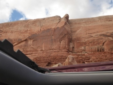 The view out the sunroof...