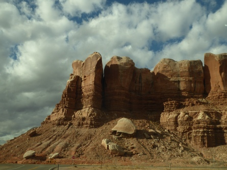 Entering the town of Bluff, Utah