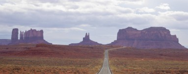 Driving into Monument Valley, AZ