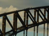 Adrenaline junkies doing the Harbor Bridge Climb. No thanks.
