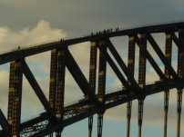 Adrenaline junkies doing the Harbor Bridge Climb. No thanks.
