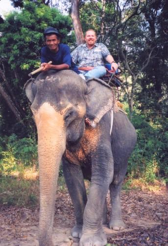 Atop my trusty elephant...