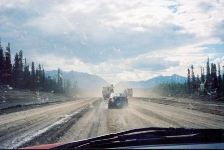 A rough patch of the Alaska Highway