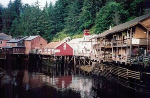 The waterfront in Ketchikan