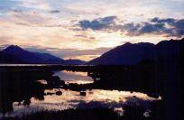Sunset near Haines, Alaska