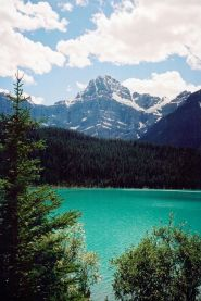 The impossibly blue-green waters of Banff National Park
