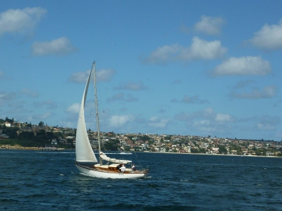 A blustery day on Sydney Harbor