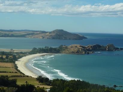 The pristine coastline