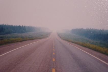 The Alaska Highway...heading into fog again