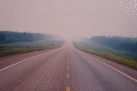 The Alaska Highway...heading into fog again