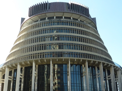 The Beehive: Part of the Houses of Parliament in Wellington