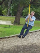 Peter, showing how the Flying Fox is done...