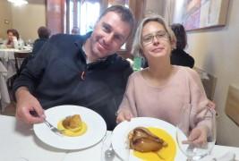 Tullio and his wife, Barbara: dessert!