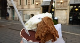 My first gelato: Gelateria Freddo...