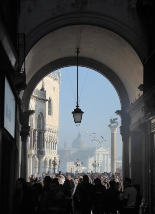 The entrance to Piazza San Marco