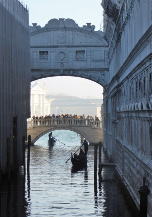 The Bridge of Sighs... far from the tourists on the other side of it!
