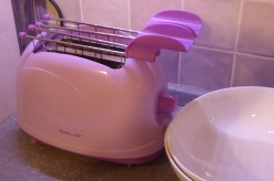 Claudia's amazing purple toaster...