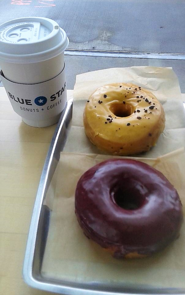 Solace in a couple of Blue Star Donuts