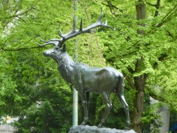 One of the wildlife statues that dot the city...