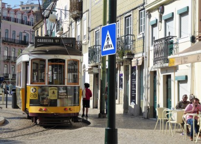 One of Lisbon's famous trams