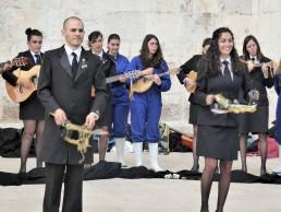 High schoolers performing