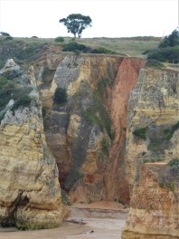 The cliffs above Praia Dona Ana
