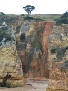 The cliffs above Praia Dona Ana