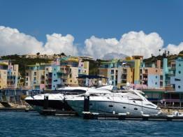 Colorful Albufeira Harbor