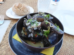 Steamed Mussels at the Beach Basket