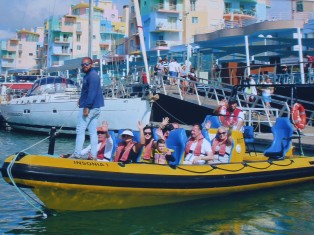 The Insonia departs the harbor