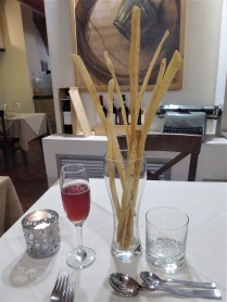 Prosecco and the Breadstick Bouquet