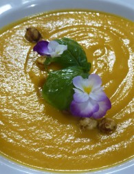 Cream of carrot soup; as tasty as it was beautiful!
