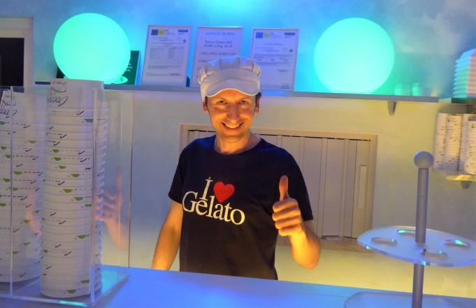 Daniele loves gelato, and everyone loves HIS gelato!