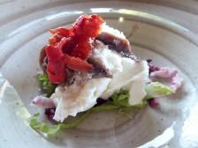 Mozzarella di Bufala, anchovies and sun dried tomatoes
