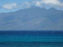 The calm waters of Napili, with Moloka'i in the distance