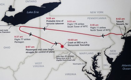 The Route of Flight 93