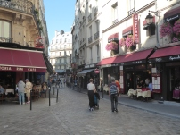 Typical Latin Quarter Scene in Paris