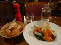 Dinner in Paris: Smoked Salmon Salad