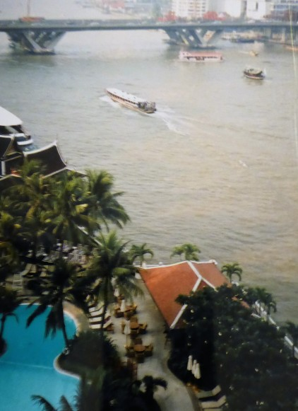 View of the pool and the River from my room