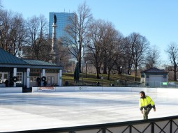 An early morning skater at Boston Common