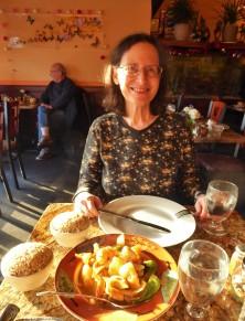 A Thai dinner with my friend Carol