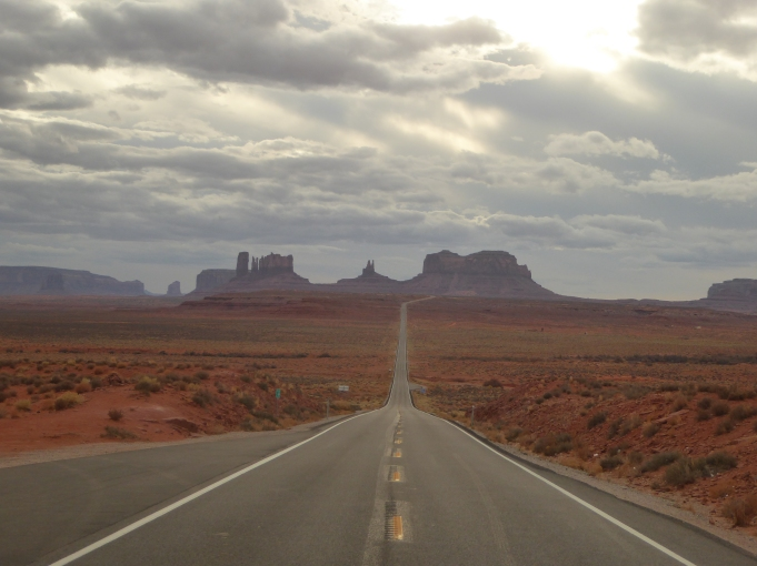 Westward through Monument Valley