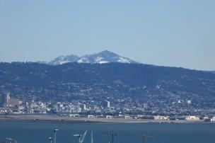 A rare snow atop Mt. Diablo in the San Francisco Bay Area