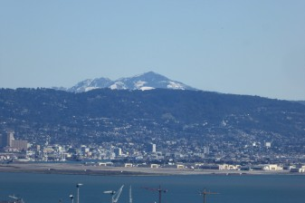 A rare snow atop Mt. Diablo in the San Francisco Bay Area