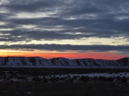 Entering Colorado, with Sunset Over Utah