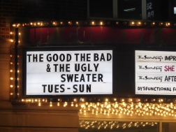 A funny marquee at Second City, Chicago