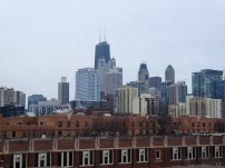 The skyline from the roof at Sono