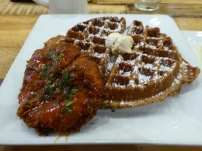 Chicken and Waffles at Batter and Berries