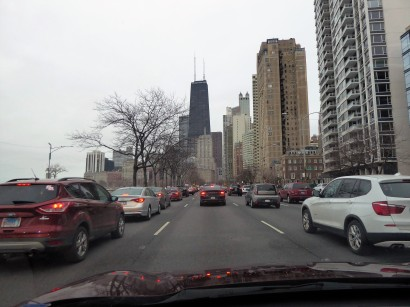 Escape from Chicago on Lake Shore Drive