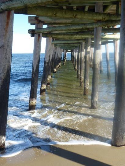 Under the boardwalk... well, OK, the pier